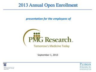 2013 Annual Open Enrollment