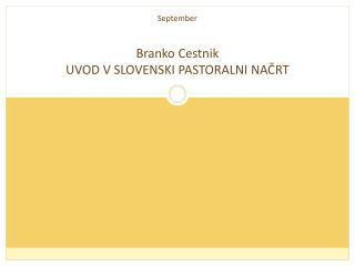 September Branko Cestnik UVOD V SLOVENSKI PASTORALNI NAČRT