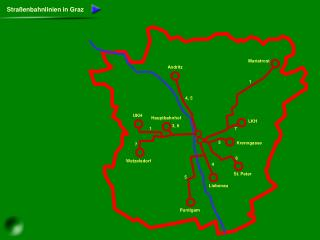 Straßenbahnlinien in Graz