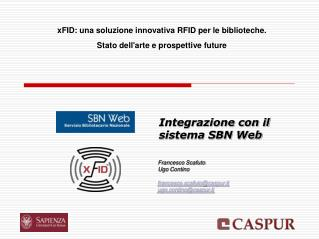 Integrazione con il sistema SBN Web