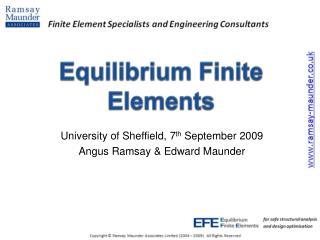 Equilibrium Finite Elements