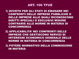 ART. 106 TFUE