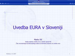 Uvedba EURA v Sloveniji