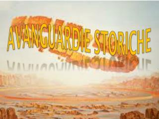 AVANGUARDIE STORICHE