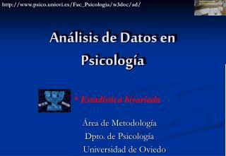 Análisis de Datos en Psicología