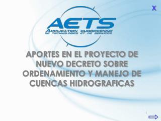 APORTES EN EL PROYECTO DE NUEVO DECRETO SOBRE ORDENAMIENTO Y MANEJO DE CUENCAS HIDROGRAFICAS