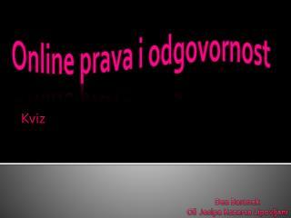 Online  prava i odgovornost