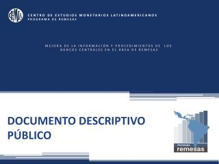 DOCUMENTO DESCRIPTIVO PÚBLICO