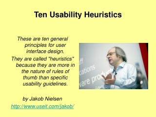 Ten Usability Heuristics