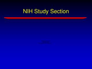 NIH Study Section