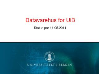 Datavarehus for UiB