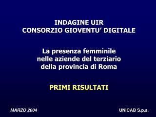 MARZO 2004 UNICAB S.p.a.