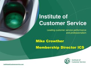 Leading customer service performance  and professionalism