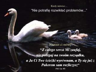 """Kiedy mówisz :... """" Nie potrafię rozwikłać problemów ..."""""""