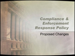 Compliance  Enforcement  Response Policy