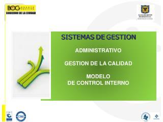 SISTEMAS DE GESTION ADMINISTRATIVO GESTION DE LA CALIDAD MODELO  DE CONTROL INTERNO