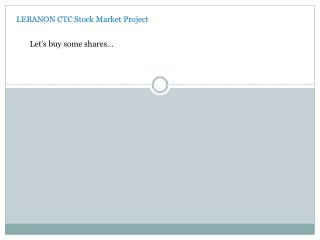 LEBANON CTC Stock Market Project