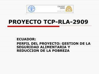 PROYECTO TCP-RLA-2909