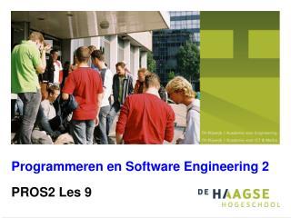 Programmeren en Software Engineering 2