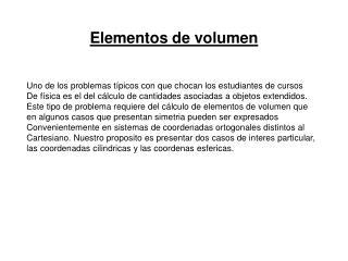 Elementos de volumen