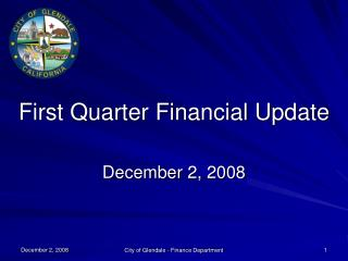 First Quarter Financial Update