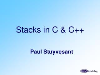 Stacks in C & C++