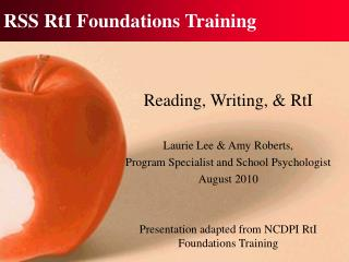 RSS RtI Foundations Training