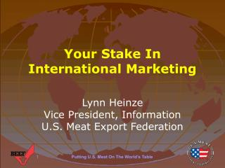 Your Stake In International Marketing