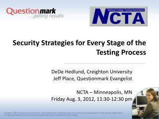 Security Strategies for Every Stage of the Testing Process