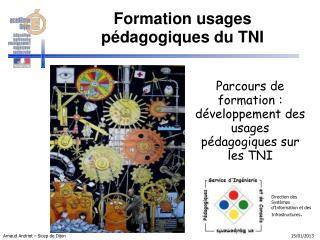 Parcours de formation :  développement des usages pédagogiques sur les TNI