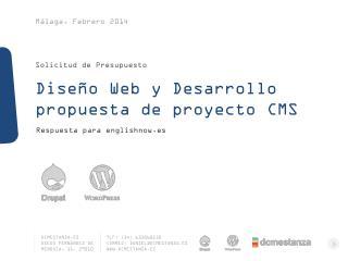 Diseño  Web  y  Desarrollo propuesta  de  proyecto  CMS