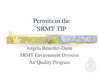 Permits in the SRMT TIP
