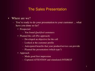 The Sales Presentation