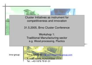 Cluster Initiatives as instrument for  competitiveness and innovation