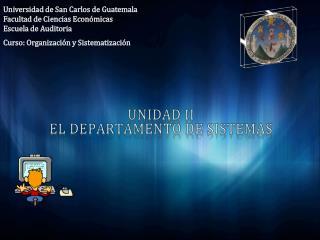 Universidad de San Carlos de Guatemala Facultad de Ciencias Económicas  Escuela de Auditoria