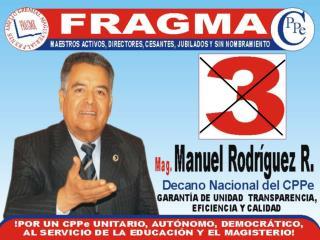 ELECCIONES COLEGIO DE PROFESORES DEL PERÚ –  CPPe