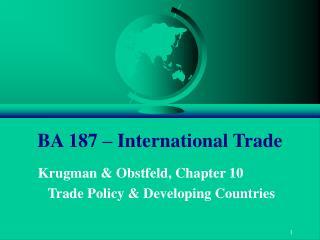 BA 187   International Trade