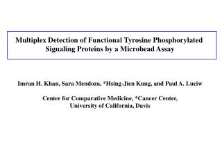 Multiplex Detection of  Functional Tyrosine Phosphorylated