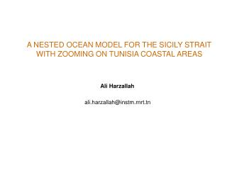 A NESTED OCEAN MODEL FOR THE SICILY STRAIT  WITH ZOOMING ON TUNISIA COASTAL AREAS