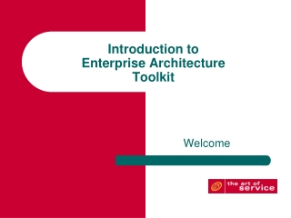An introduction to TOGAF  The Open Group Architecture Framework