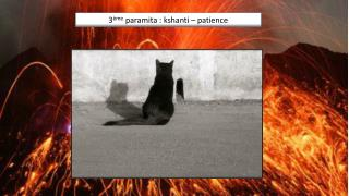 3 ème  paramita :  kshanti   - la patience