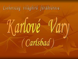 Karlové   Vary