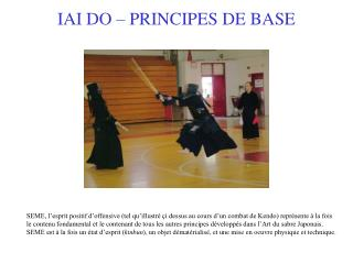 IAI DO � PRINCIPES DE BASE