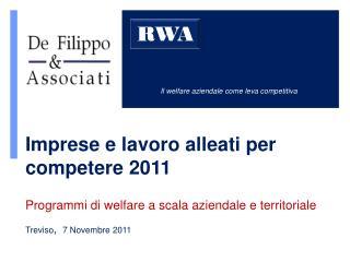 Il welfare aziendale come leva competitiva