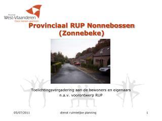 Provinciaal RUP Nonnebossen (Zonnebeke)