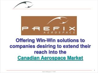 What Prefix Aerospace can offer