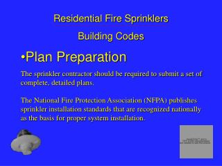 Residential Fire Sprinklers Building Codes