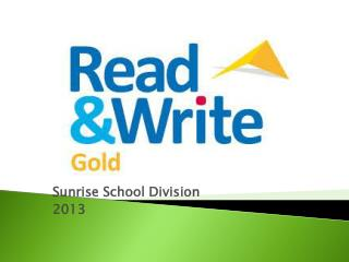 Sunrise School Division 2013
