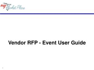 Vendor RFP - Event User Guide