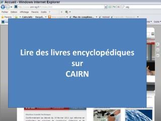Lire des livres encyclopédiques sur CAIRN
